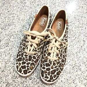 Keds Cheetah Print Shoes, Size 8.5